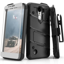 Zizo Bolt Case with Stand for LG K8 (2018) (Black & Black)