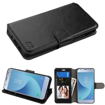 MYBAT Wallet Case with Tray for Samsung Galaxy J3 (2018) (Black) (Closeout)