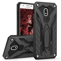Zizo Static Hybrid Case for Samsung Galaxy J7 (2018) (Black & Black)
