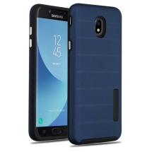 Advanced Armor Textured Case for Samsung Galaxy J7 (2018) (Ink Blue Dots & Black)