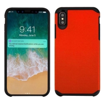 Advanced Armor Case for Apple iPhone XS Max (Red & Black)