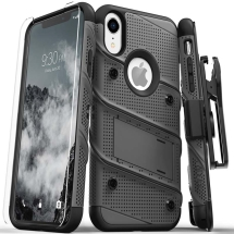 Zizo Bolt Case with Stand for Apple iPhone XR (Gunmetal Gray & Black)