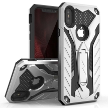 Zizo Static Hybrid Case for Apple iPhone XS Max (Silver & Black)