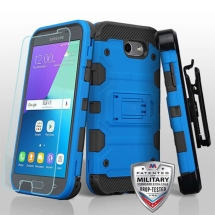 MYBAT Storm Tank Hybrid Case for Samsung Galaxy J3 (2017) (Blue & Black)