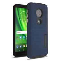 Advanced Armor Textured Case for Motorola Moto G6 Play (Ink Blue Dots & Black)