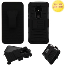 Advanced Armor Protector Case with Stand for Motorola Moto G6 Play (Black)