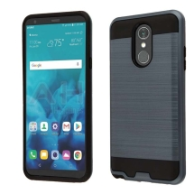 Brushed 2 Piece Hybrid Case for LG Stylo 4 (Blue & Black)