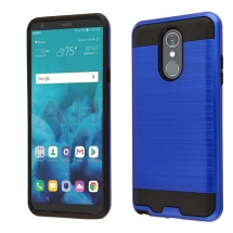 Brushed 2 Piece Hybrid Case for LG Stylo 4 (Dark Blue & Black)