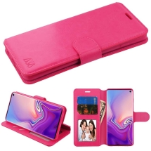 MYBAT Wallet Case w/ Tray for Samsung Galaxy S10 (Hot Pink)