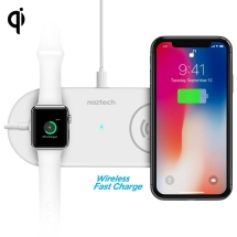 Naztech Qi Wireless Power Pad Duo (White)