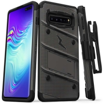 Zizo Bolt Case with Stand for Samsung Galaxy S10 5G (Gunmetal Gray & Black)
