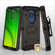 MYBAT Kinetic Hybrid Case for Motorola Moto G7 Power (Gray & Black)