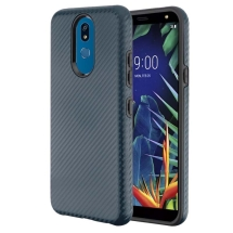 Advanced Armor Case for LG K40 (Slate Blue Carbon Fiber & Black)
