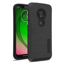 MYBAT Advanced Armor Textured Case for Motorola Moto G7 Play (Black Dot & Black)