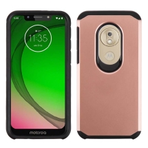 Advanced Armor Case for Motorola Moto G7 Play (Rose Gold & Black)