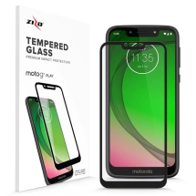 Zizo Tempered Glass Screen Protector for Motorola Moto G7 Play (Black)