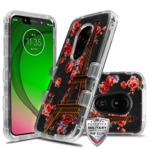 MYBAT TUFF Lucid Hybrid Case for Motorola Moto G7 Play (Paris in Bloom)