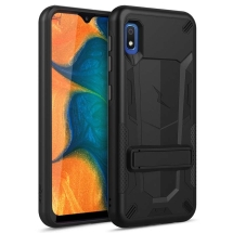 Zizo Transformer 2 Piece Hybrid Case with Stand for Samsung Galaxy A10e (Black & Black)