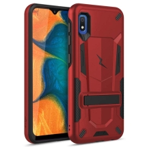 Zizo Transformer 2 Piece Hybrid Case with Stand for Samsung Galaxy A10 & A10e (Red & Black)