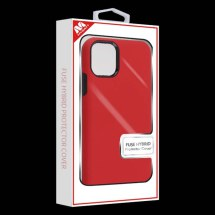 MYBAT Fuse Hybrid Case for Apple iPhone 11 (Red & Black)