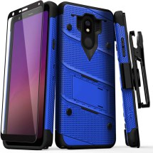 Zizo Bolt Case with Stand for LG Stylo 5 (Blue & Black)