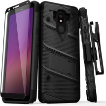 Zizo Bolt Case with Stand for LG Stylo 5 (Black & Black)