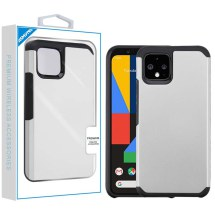 Advanced Armor Case for Google Pixel 4 (Silver & Black)