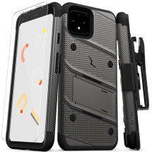 Zizo Bolt Case with Stand for Google Pixel 4 (Gunmetal Gray & Black)