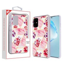 MYBAT Electroplated Case for Samsung Galaxy S20+ (Rose Marble)