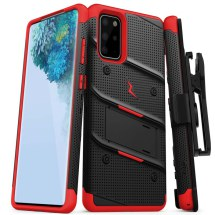 Zizo Bolt Case w/ Stand for Samsung Galaxy S20+ (Black & Red)