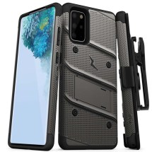 Zizo Bolt Case with Stand for Samsung Galaxy S20+ (Gunmetal Gray & Black)