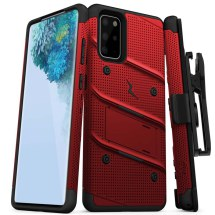 Zizo Bolt Case with Stand for Samsung Galaxy S20+ (Red & Black)